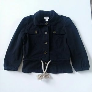 Loft Ann Taylor nautical jacket with rope belt
